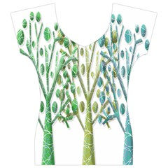 Magical green trees Women s V-Neck Cap Sleeve Top