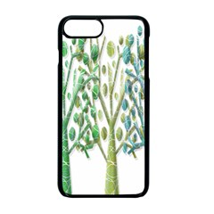 Magical green trees Apple iPhone 7 Plus Seamless Case (Black)