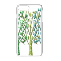 Magical green trees Apple iPhone 7 Plus White Seamless Case