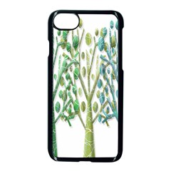 Magical green trees Apple iPhone 7 Seamless Case (Black)