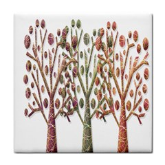 Magical autumn trees Tile Coasters
