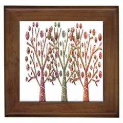 Magical autumn trees Framed Tiles