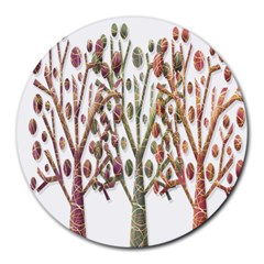 Magical autumn trees Round Mousepads