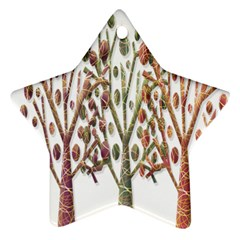 Magical autumn trees Ornament (Star)