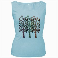 Magical autumn trees Women s Baby Blue Tank Top