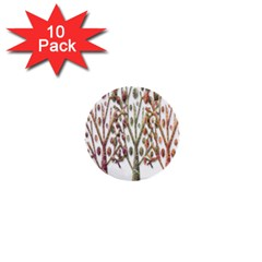 Magical autumn trees 1  Mini Buttons (10 pack)