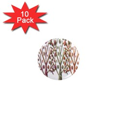 Magical autumn trees 1  Mini Magnet (10 pack)