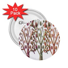 Magical autumn trees 2.25  Buttons (10 pack)