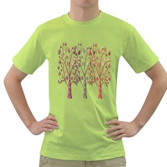Magical autumn trees Green T-Shirt