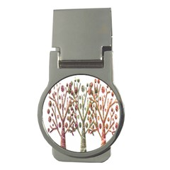 Magical autumn trees Money Clips (Round)