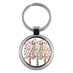Magical autumn trees Key Chains (Round)