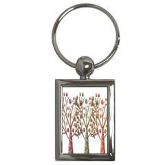 Magical autumn trees Key Chains (Rectangle)