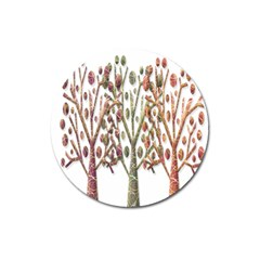 Magical autumn trees Magnet 3  (Round)