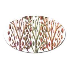 Magical autumn trees Oval Magnet