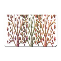 Magical autumn trees Magnet (Rectangular)