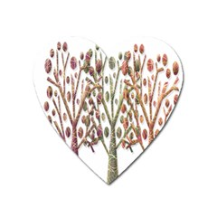 Magical autumn trees Heart Magnet