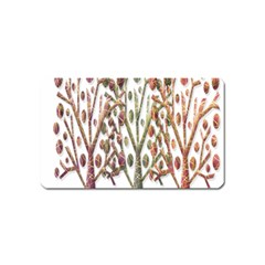 Magical autumn trees Magnet (Name Card)