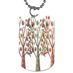Magical autumn trees Dog Tag (Two Sides)