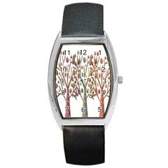 Magical autumn trees Barrel Style Metal Watch