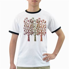 Magical autumn trees Ringer T-Shirts