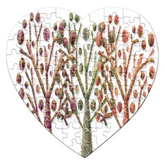 Magical autumn trees Jigsaw Puzzle (Heart)
