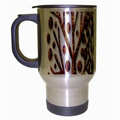 Magical autumn trees Travel Mug (Silver Gray)