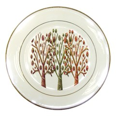 Magical autumn trees Porcelain Plates