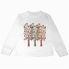Magical autumn trees Kids Long Sleeve T-Shirts