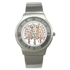 Magical autumn trees Stainless Steel Watch