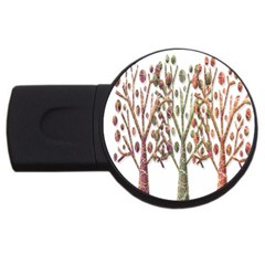 Magical autumn trees USB Flash Drive Round (4 GB)