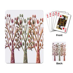 Magical autumn trees Playing Card