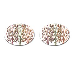Magical autumn trees Cufflinks (Oval)