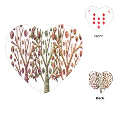 Magical autumn trees Playing Cards (Heart)