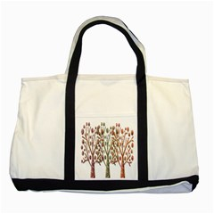 Magical autumn trees Two Tone Tote Bag