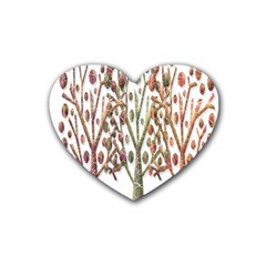 Magical autumn trees Rubber Coaster (Heart)