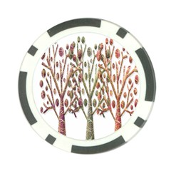 Magical autumn trees Poker Chip Card Guards