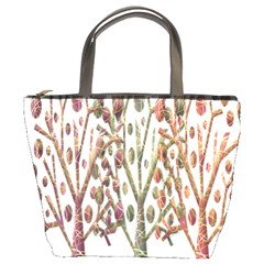 Magical autumn trees Bucket Bags