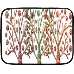 Magical autumn trees Fleece Blanket (Mini)