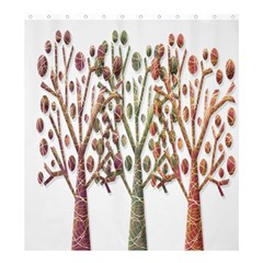 Magical autumn trees Shower Curtain 66  x 72  (Large)