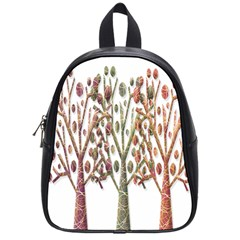 Magical autumn trees School Bags (Small)