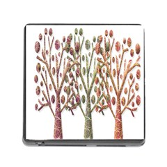 Magical autumn trees Memory Card Reader (Square)