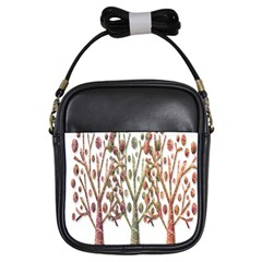 Magical autumn trees Girls Sling Bags