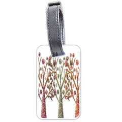 Magical autumn trees Luggage Tags (One Side)