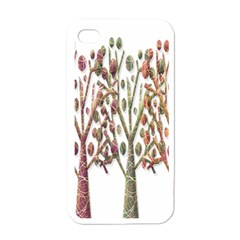 Magical autumn trees Apple iPhone 4 Case (White)