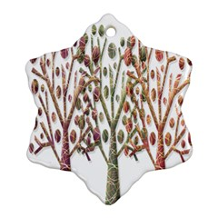 Magical autumn trees Ornament (Snowflake)