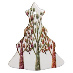 Magical autumn trees Christmas Tree Ornament (2 Sides)