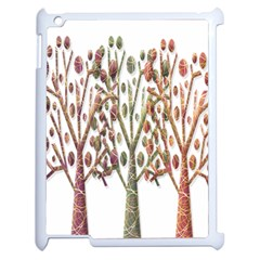 Magical autumn trees Apple iPad 2 Case (White)