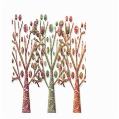 Magical autumn trees Small Garden Flag (Two Sides)