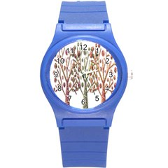 Magical autumn trees Round Plastic Sport Watch (S)