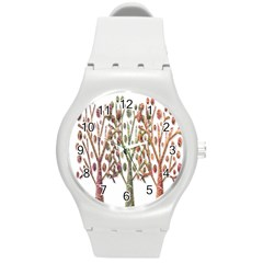 Magical autumn trees Round Plastic Sport Watch (M)